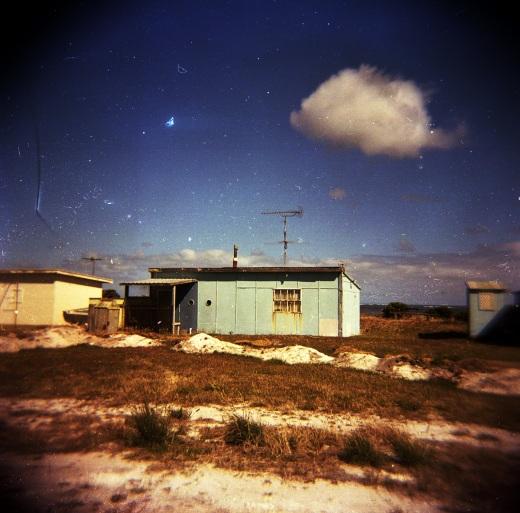 Holga photo of a fishing shack