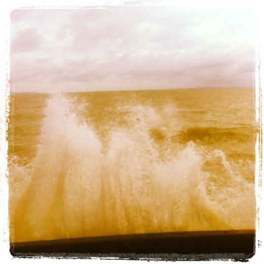 instagram iphone imag: king tide wave crash Yeppoon